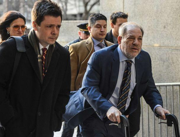 PHOTO: Harvey Weinstein arrives at the New York City Criminal Court in New York City on February 14, 2020 for his sexual assault trial. (Stephanie Keith / Getty Images)