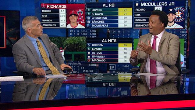 Talking to former opponents like Pedro Martinez gives Joe Girardi insight he'll carry with him if he manages again. (Image via MLB Network)