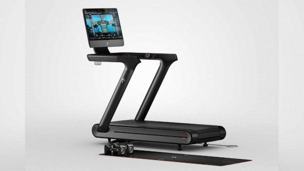 PHOTO: A Peloton Tread+ treadmill is pictured in an undated marketing image released by Peloton. (Peloton)