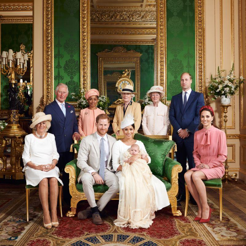It is believed he was one of less than 30 guests to attend the eight-week-old's christening at Windsor Castle yesterday [Image: Chris Allerton/ Sussex Royal]