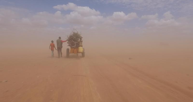 "A ""Human Flow"" still image in Dadaab refugee camp in Kenya."