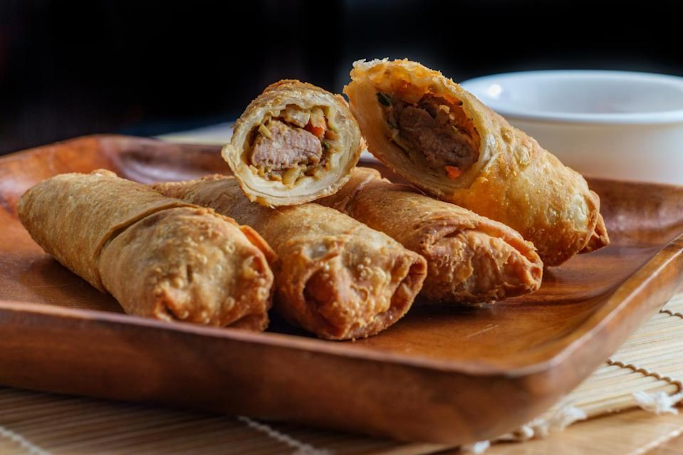 """<p>Whether you make these brisket egg rolls to use up leftovers or as a showstopping starter before the Passover seder, this recipe is a versatile crowd-pleaser. Just be sure to also make this <a href=""""https://www.thedailymeal.com/recipes/passover-teriyaki-sauce-recipe?referrer=yahoo&category=beauty_food&include_utm=1&utm_medium=referral&utm_source=yahoo&utm_campaign=feed"""" rel=""""nofollow noopener"""" target=""""_blank"""" data-ylk=""""slk:Passover Teriyaki Sauce"""" class=""""link rapid-noclick-resp"""">Passover Teriyaki Sauce</a> recipe for dipping.</p> <p><a href=""""https://www.thedailymeal.com/recipes/brisket-egg-rolls-recipe?referrer=yahoo&category=beauty_food&include_utm=1&utm_medium=referral&utm_source=yahoo&utm_campaign=feed"""" rel=""""nofollow noopener"""" target=""""_blank"""" data-ylk=""""slk:For the Brisket Egg Rolls recipe, click here."""" class=""""link rapid-noclick-resp"""">For the Brisket Egg Rolls recipe, click here.</a></p>"""