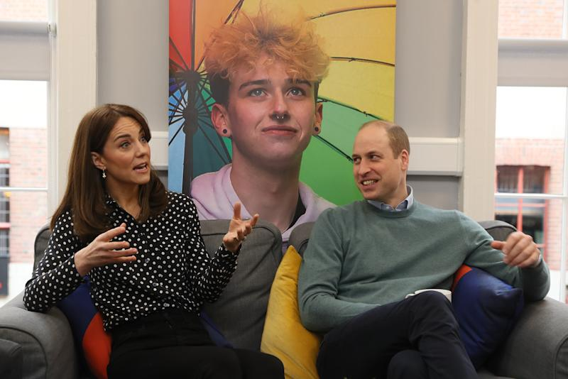 The Duke and Duchess of Cambridge during a visit to mental health charity Jigsaw, at Temple Bar in Dublin, as part of their three day visit to the Republic of Ireland.