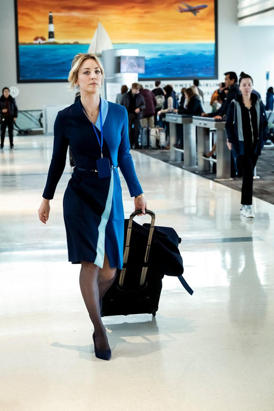 "Kaley Cuoco (""The Big Bang Theory"") stars as Cassie in ""The Flight Attendant."""