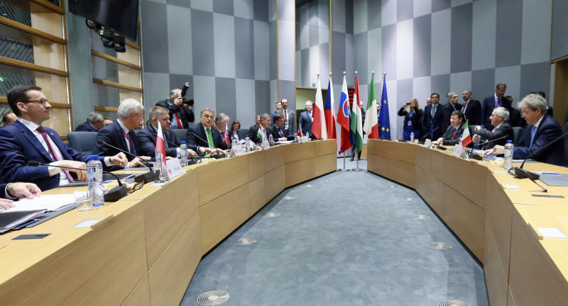 EU nations bicker over migration policy as summit opens