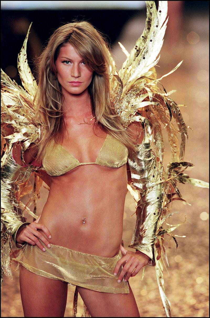 Gisele Bündchen at the 2000 Victoria's Secret Fashion Show and amfAR charity gala during the Cannes Film Festival.