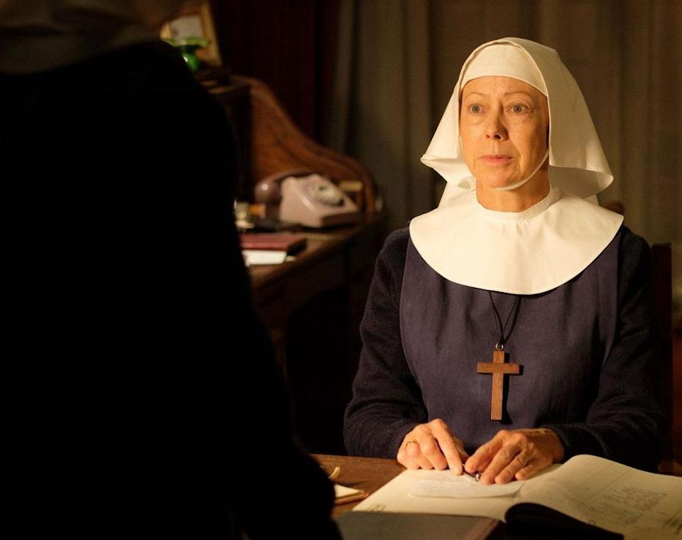 The 68-year-old has played the role of Sister Julienne since 2012 and is her longest-running role yet. — Picture courtesy of BBC Studios