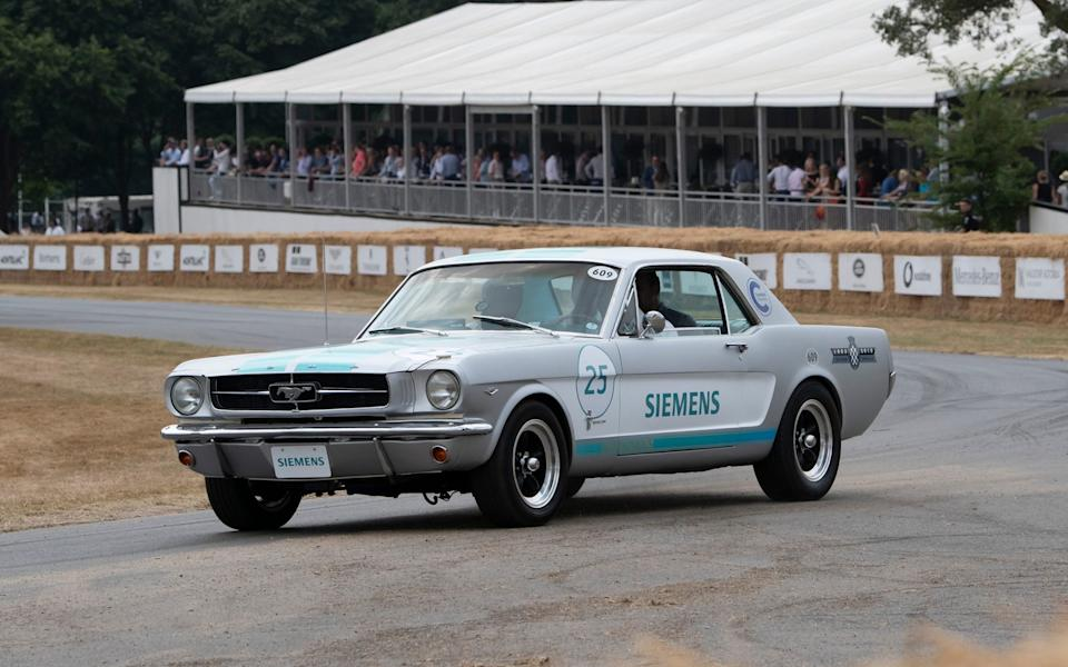 Goodwood Festival of Speed 2018 - self-driving 1965 Ford Mustang