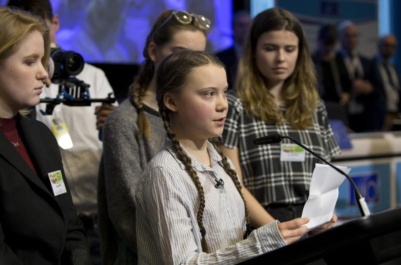 Swedish teen leads Belgian students on 7th climate march