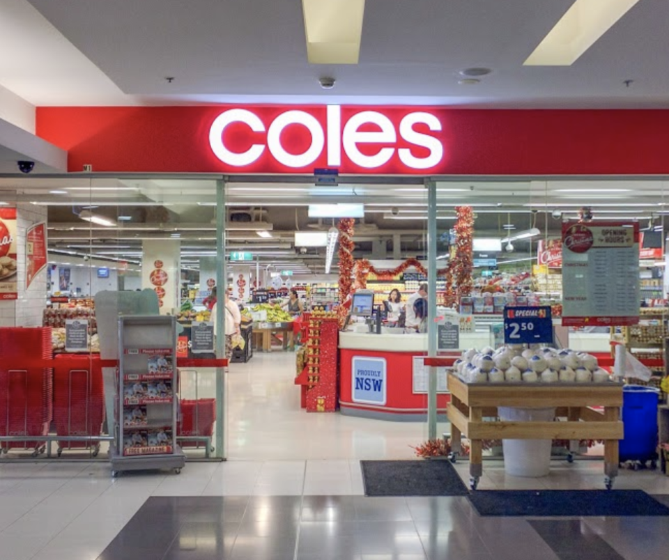 Coles at the Hustville station is linked to a Covid case.