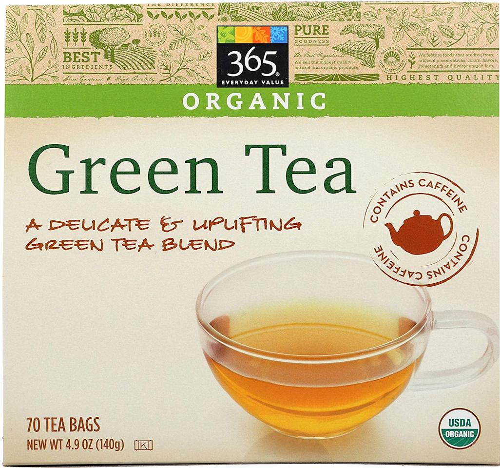"""<p>Grab a few caffeinated green-tea bags (they don't need to be fancy, even these <a href=""""https://www.popsugar.com/buy/Everyday-Value-Green-Tea-Bags-540344?p_name=Everyday%20Value%20Green%20Tea%20Bags&retailer=amazon.com&pid=540344&price=4&evar1=bella%3Aus&evar9=47107743&evar98=https%3A%2F%2Fwww.popsugar.com%2Fbeauty%2Fphoto-gallery%2F47107743%2Fimage%2F47110774%2FBeauty-Hack-Green-Tea-Bags&list1=diy%20beauty%2Cbeauty%20hacks&prop13=mobile&pdata=1"""" rel=""""nofollow"""" data-shoppable-link=""""1"""" target=""""_blank"""" class=""""ga-track"""" data-ga-category=""""Related"""" data-ga-label=""""https://www.amazon.com/365-Everyday-Value-Organic-Green/dp/B074J7QCCC/ref=sxin_3_ac_d_rm?ac_md=0-0-Z3JlZW4gdGVh-ac_d_rm&amp;cv_ct_cx=green+tea&amp;keywords=green+tea&amp;pd_rd_i=B074J7QCCC&amp;pd_rd_r=4917043d-208e-456c-8072-78e71c30e6fc&amp;pd_rd_w=cpuZs&amp;pd_rd_wg=TENGS&amp;pf_rd_p=6d29ef56-fc35-411a-8a8e-7114f01518f7&amp;pf_rd_r=AD90QTD1E4XZNVJFSTEE&amp;psc=1&amp;qid=1579118314"""" data-ga-action=""""In-Line Links"""">Everyday Value Green Tea Bags</a> ($4) would do), steep them, and then refrigerate. On those mornings you wake up with dark circles under your eyes or puffiness, hold the cold tea bags under your eyes for a few minutes. The caffeine will go to work tightening skin while the cold depuffs. You can also use black-tea bags to help combat razor burn or other inflamed skin.</p>"""