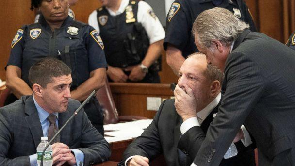 PHOTO: Film producer Harvey Weinstein sits during his hearing at Manhattan Criminal Court in N.Y., Oct. 11, 2018. (Steven Hirsch /Pool via Reuters)