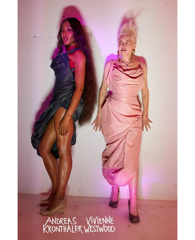Naomi Campbell alongside Dame Vivienne Westwood in the SS20 campaign. [Photo: Vivienne Westwood]