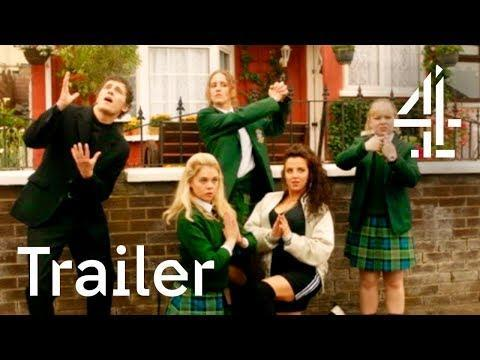 """<p>In Northern Ireland in the '90s, high school student Erin (Saoirse-Monica Jackson) and her friends are, at best, incredibly awkward. Full of traditional teen gracelessness, <em>Derry Girls</em> will have you reminiscing about life as a 16-year-old...or leave you very happy you're no longer a teen.</p><p><a href=""""https://www.youtube.com/watch?v=UFmFuXH0IRY"""" rel=""""nofollow noopener"""" target=""""_blank"""" data-ylk=""""slk:See the original post on Youtube"""" class=""""link rapid-noclick-resp"""">See the original post on Youtube</a></p>"""