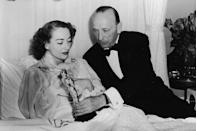 "<p>Joan Crawford accepted her Best Actress Oscar for <em><a href=""https://www.amazon.com/Mildred-Pierce-Joan-Crawford/dp/B004WKH4PS/ref=sr_1_2?s=instant-video&ie=UTF8&qid=1547576497&sr=1-2&keywords=Mildred+Pierce&tag=syn-yahoo-20&ascsubtag=%5Bartid%7C10055.g.5132%5Bsrc%7Cyahoo-us"" rel=""nofollow noopener"" target=""_blank"" data-ylk=""slk:Mildred Pierce"" class=""link rapid-noclick-resp"">Mildred Pierce</a></em> from her bed at home because she was too sick to attend the ceremony.</p>"