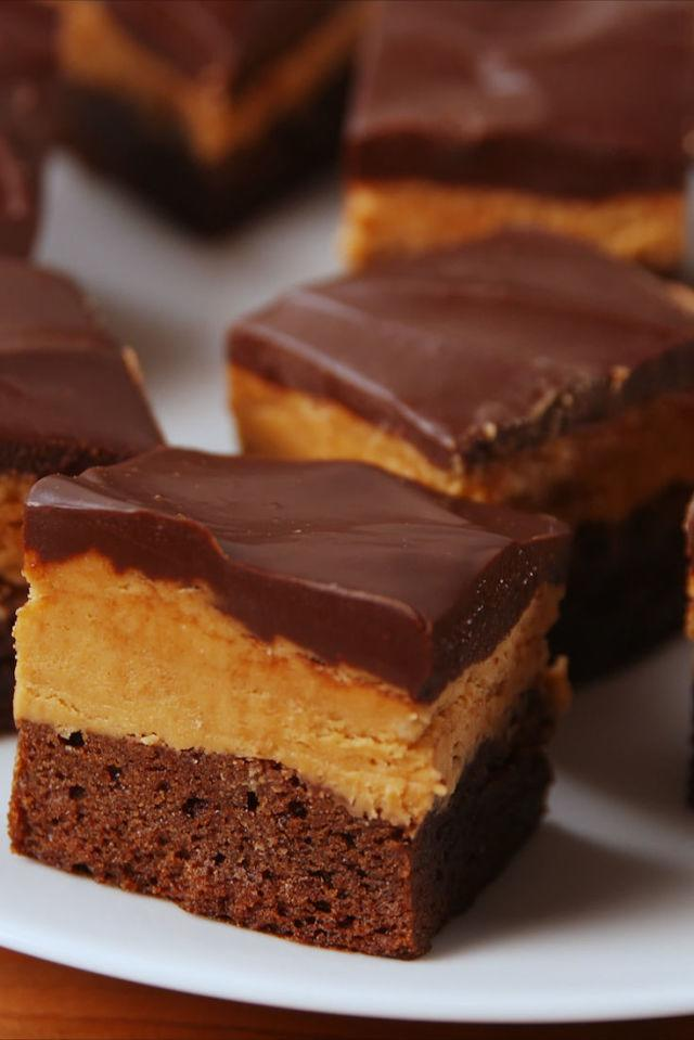 "<p>It's chocolate and peanut butter. What more could you want?</p><p>Get the recipe from <a rel=""nofollow"" href=""http://www.delish.com/cooking/recipe-ideas/recipes/a53323/buckeye-brownies-recipe/"">Delish</a>.</p>"