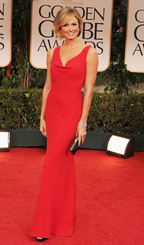 Stacy Keibler arrives at the 69th Annual Golden Globe Awards in Beverly Hills, California, on January 15.