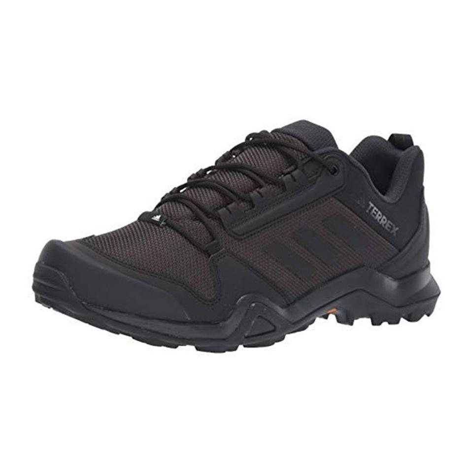 """<p><strong>adidas outdoor</strong></p><p>amazon.com</p><p><a href=""""https://www.amazon.com/dp/B07FBJMMJ9?tag=syn-yahoo-20&ascsubtag=%5Bartid%7C10054.g.36791822%5Bsrc%7Cyahoo-us"""" rel=""""nofollow noopener"""" target=""""_blank"""" data-ylk=""""slk:BUY IT HERE"""" class=""""link rapid-noclick-resp"""">BUY IT HERE</a></p><p><del>$80.00</del><strong><br>$56.00 (30% OFF)</strong></p><p>Spending a lot of time outdoors this summer? Adidas reimagined its cutting-edge technology and unparalleled design into hiking boots. </p>"""