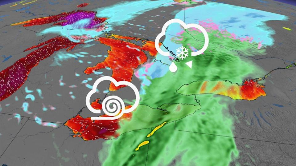 Snow squall threat shaping up to close out the weekend in Ontario