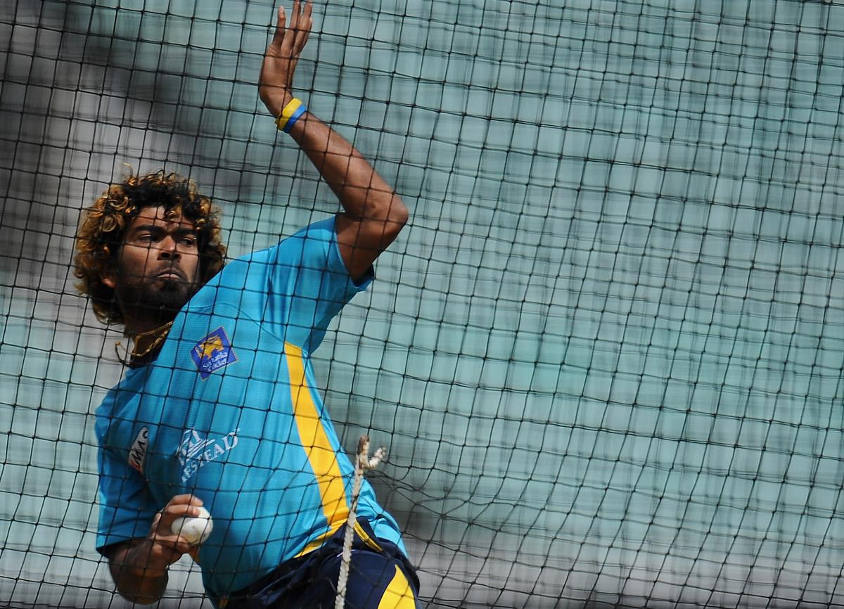 LONDON, ENGLAND - JUNE 15:  Lasith Malinga in action during the Sri Lanka Nets Session at the Oval on June 15, 2013 in London, England.  (Photo by Christopher Lee-ICC/ICC via Getty Images)