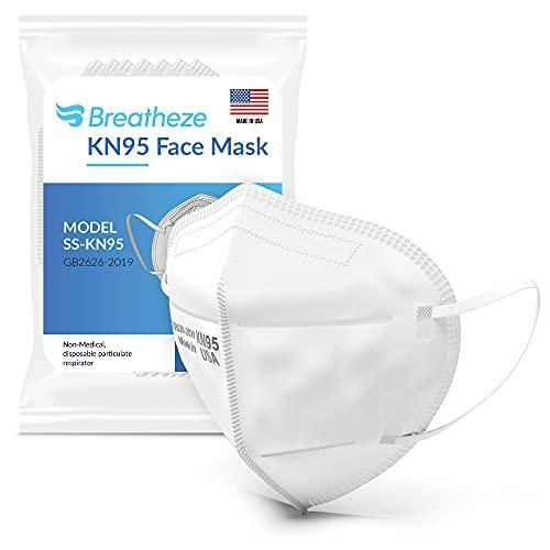 Breatheze KN95 Face Mask — Made in USA (10-Pack)
