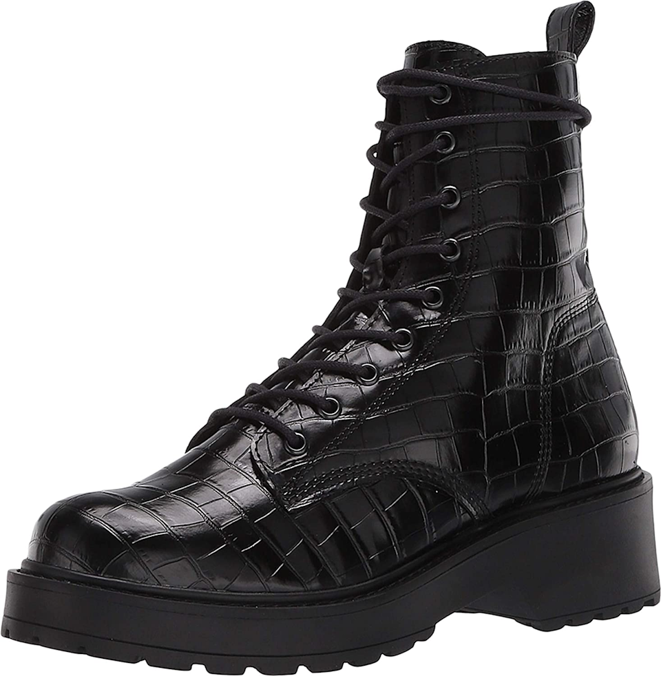 """<br><br><strong>Steve Madden</strong> Tornado Combat Boot, $, available at <a href=""""https://amzn.to/3hoYDXm"""" rel=""""nofollow noopener"""" target=""""_blank"""" data-ylk=""""slk:Amazon"""" class=""""link rapid-noclick-resp"""">Amazon</a>"""