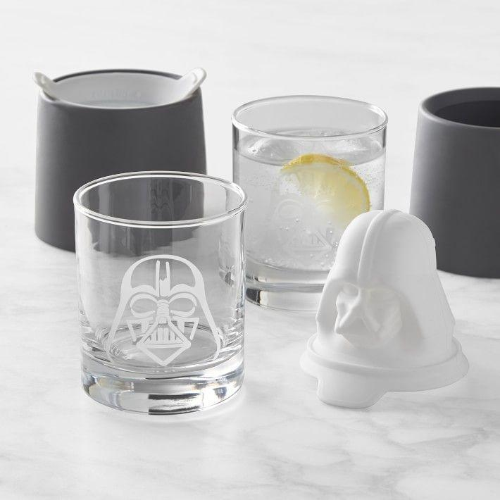 """<p>williams-sonoma.com</p><p><strong>$44.95</strong></p><p><a href=""""https://go.redirectingat.com?id=74968X1596630&url=https%3A%2F%2Fwww.williams-sonoma.com%2Fproducts%2Fstar-wars-darth-vader-etched-glass-set&sref=https%3A%2F%2Fwww.delish.com%2Fkitchen-tools%2Fcookware-reviews%2Fg29568867%2Fstar-wars-gifts%2F"""" rel=""""nofollow noopener"""" target=""""_blank"""" data-ylk=""""slk:BUY NOW"""" class=""""link rapid-noclick-resp"""">BUY NOW</a></p><p>These glasses subtly say, """"I'm a <em>Star Wars </em>nerd."""" Meanwhile, the ice molds are just plain cool.</p>"""