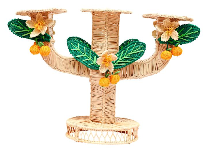 """<div class=""""caption""""> Candleholder by Mercedes Salazar for The Luxury Collection; $176. <a href=""""https://www.luxurycollectionstore.com"""" rel=""""nofollow noopener"""" target=""""_blank"""" data-ylk=""""slk:theluxurycollectionstore.com"""" class=""""link rapid-noclick-resp""""><em>theluxurycollectionstore.com</em></a> </div> <cite class=""""credit"""">Courtesy The Luxury Collection</cite>"""