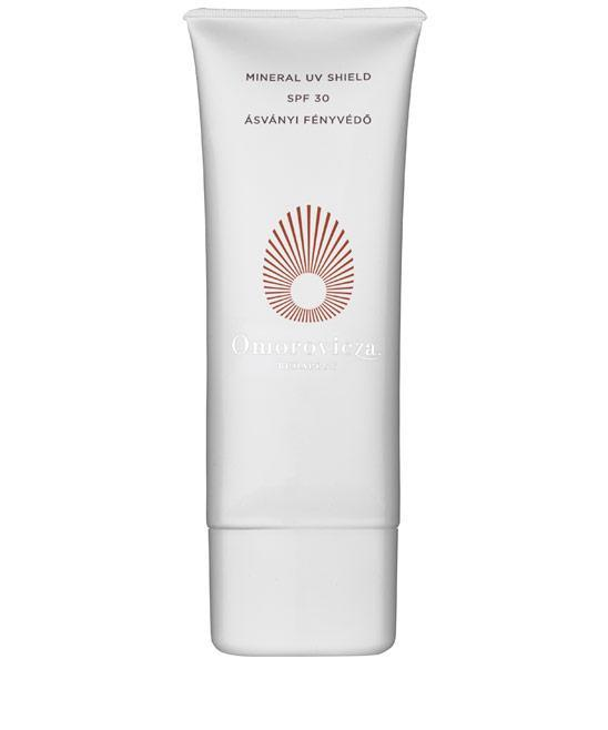 """<p>This ultra-luxe formula applies like a lightweight moisturizer and has a sweet baby powder scent.<br><a href=""""http://www.omorovicza.com/mineral-uv-shield-spf30.html"""" rel=""""nofollow noopener"""" target=""""_blank"""" data-ylk=""""slk:Omorovicza Budapest Mineral UV Shield SPF30"""" class=""""link rapid-noclick-resp"""">Omorovicza Budapest Mineral UV Shield SPF30 </a>($125)</p>"""