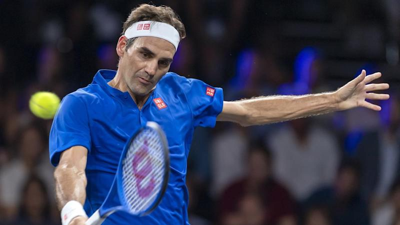 Team Europe's Roger Federer has beaten Team World's Nick Kyrgios in four sets at the Laver Cup