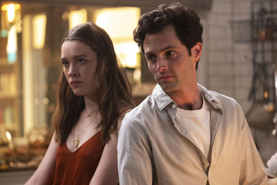 "<p>Based on Caroline Kepnes's deeply creepy and darkly funny novels about a charismatic stalker, Netflix's <em>You</em> has walked a tonal tightrope in both of its seasons so far: part satire, part soapy thriller, part chilling exploration of toxic masculinity. Season 2 ended with the tables turned on Penn Badgley's Joe Goldberg, whose latest crush Love (<a href=""https://www.elle.com/culture/movies-tv/a30350952/you-season-2-victoria-pedretti-interview/"" rel=""nofollow noopener"" target=""_blank"" data-ylk=""slk:Victoria Pedretti"" class=""link rapid-noclick-resp"">Victoria Pedretti</a>) turned out to be just as violently unhinged as him. <a href=""https://www.elle.com/culture/movies-tv/a30245820/you-season-3-date-cast-plot-spoilers-details/"" rel=""nofollow noopener"" target=""_blank"" data-ylk=""slk:Season 3 will find"" class=""link rapid-noclick-resp"">Season 3 will find</a> Joe and a heavily pregnant Love starting a new life together in the Los Angeles suburbs, and will surely tell the story of how they live happily ever after with no conflict or bloodshed whatsoever. Yep. For sure.</p>"
