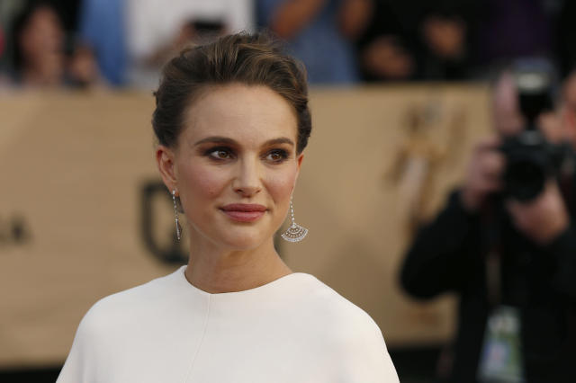 Actress Natalie Portman, seen at the Screen Actors Guild Awards in January, has shared her own experiences of sexual discrimination andharassment. (Mario Anzuoni / Reuters)