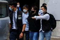 Convenor of Student Politicism Wong Yat-chin is detained by police, in Hong Kong