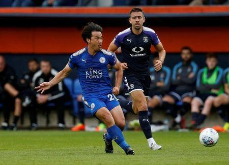 FILE PHOTO: Soccer Football - Luton Town vs Leicester City - Pre Season Friendly - Luton, Britain - July 26, 2017 Leicester City's Shinji Okazaki in action Action Images via Reuters/Matthew Childs/File Photo