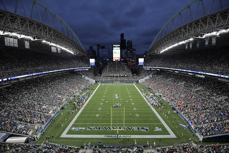 Aug 8, 2019; Seattle, WA, USA; CenturyLink Field is seen during a game between the Denver Broncos and the Seattle Seahawks. The Seahawks won 22-14. Mandatory Credit: Kirby Lee-USA TODAY Sports