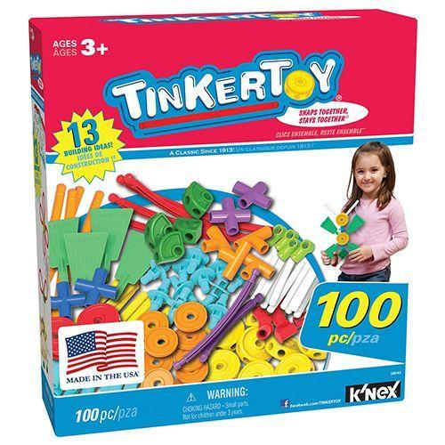 """<p><strong><em>Tinkertoy 100 Piece Essentials Value Set</em></strong><strong><em>, from $44</em></strong> <a class=""""link rapid-noclick-resp"""" href=""""https://www.amazon.com/gp/product/B00CTJOGOG/?tag=syn-yahoo-20&ascsubtag=%5Bartid%7C10050.g.35033504%5Bsrc%7Cyahoo-us"""" rel=""""nofollow noopener"""" target=""""_blank"""" data-ylk=""""slk:BUY NOW"""">BUY NOW</a></p><p>The Tinkertoy Set is a toy construction set for children, created in 1914. Much like Erector Sets, Tinkertoys allow children to use their imaginations to build things. Hasbro now owns the brand and produces both plastic and wooden sets.</p>"""