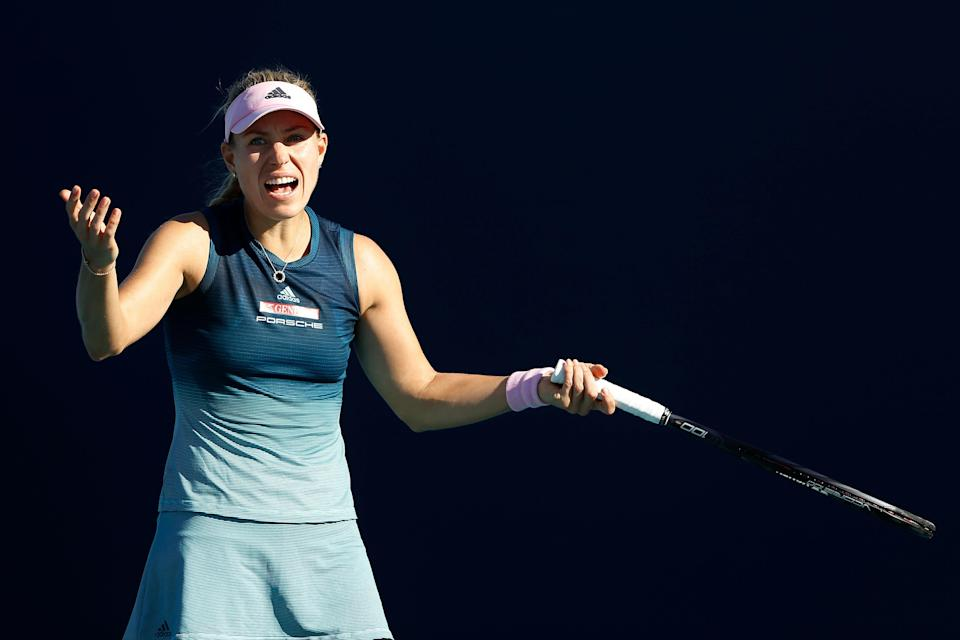 """Angelique Kerber called the 18-year-old who beat her twice a """"drama queen"""" after the second defeat. (Photo by Michael Reaves/Getty Images)"""