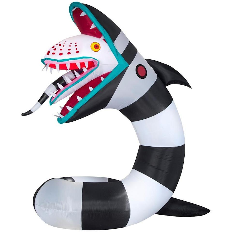 <p>One of the most detailed decorations we've seen this year, the <span>Prelit Beetlejuice Sandworm Animated Airblown Inflatable</span> ($149, originally $199) will make your neighbors think twice.</p>