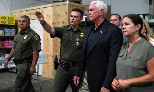 Trump claims migrant detention center visited by Pence was 'clean but crowded'