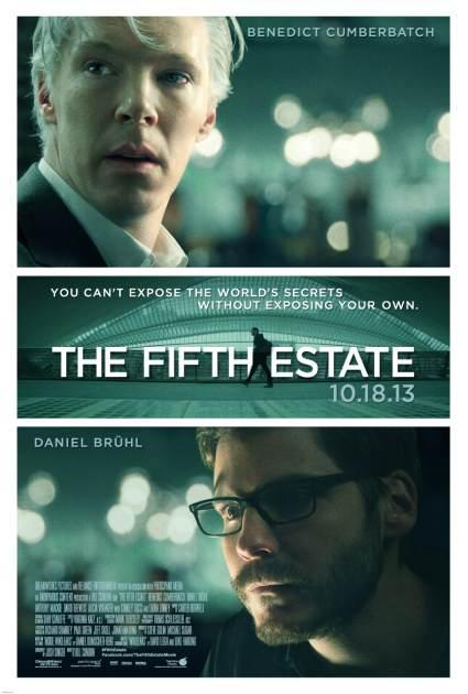The movie poster for DreamWorks Picture's 'The Fifth Estate' -- Dreamworks
