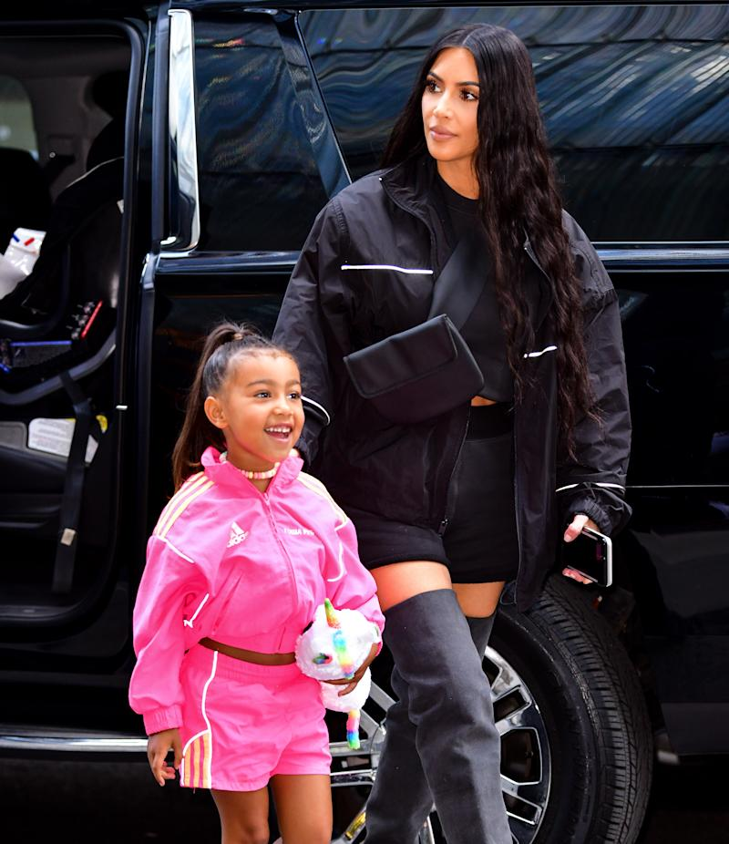 North West and Kim Kardashian