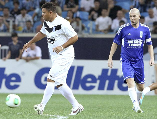 How Ronaldo looked as recently as December 20th in a charity match. (Yahoo Photo)