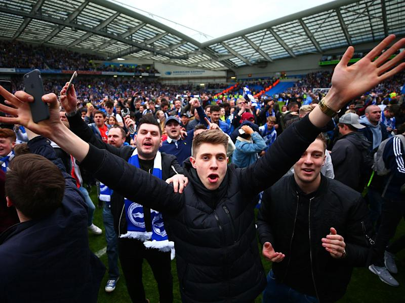 Brighton are promoted to the Premier League following Huddersfield's draw: Getty