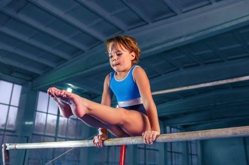"""<span class=""""caption"""">It's thought that having a child specialise in a sport early will help them achieve elite levels of success.</span> <span class=""""attribution""""><a class=""""link rapid-noclick-resp"""" href=""""https://www.shutterstock.com/image-photo/beautiful-little-girl-engaged-sports-gymnastics-1257844297"""" rel=""""nofollow noopener"""" target=""""_blank"""" data-ylk=""""slk:Master1305/ Shutterstock"""">Master1305/ Shutterstock</a></span>"""