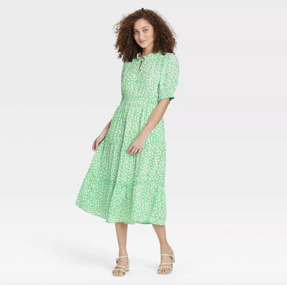 <p>The prairie dress trend gets a fresh spin in this lightweight <span>Who What Wear Puff Elbow Sleeve Dress</span> ($40).</p>