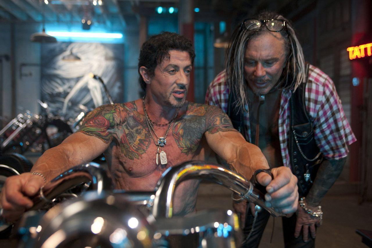 "<p>If you look back at 'Rocky', Stallone is tattoo-free, but skip forward to 'The Expendables' and he's covered in them. Why? ""I have all kinds of chest injuries; I tore my vein during 'Rocky II' and had 60 stitches,"" Stallone told ContactMusic,""It got worse and worse, and people were saying, 'Urgh, has he got varicose veins?' So I thought, 'f**k it', and covered them with a tattoo of my wife.""<br /></p>"