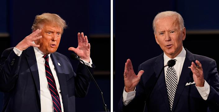 Election 2020 Trump Biden Debate (Copyright 2020 The Associated Press. All rights reserved.)
