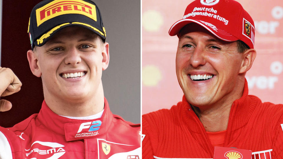 Mick and Michael Schumacher, pictured here during their careers.