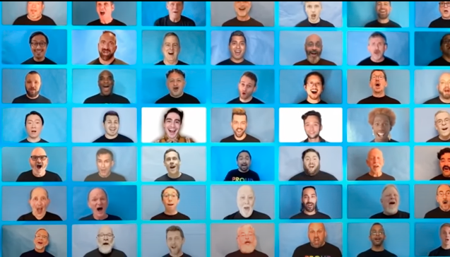 A screenshot from the San Francisco Gay Men's Chorus most recent, and controversial, video, since removed from public view. (Photo: Must Read Alaska/YouTube)