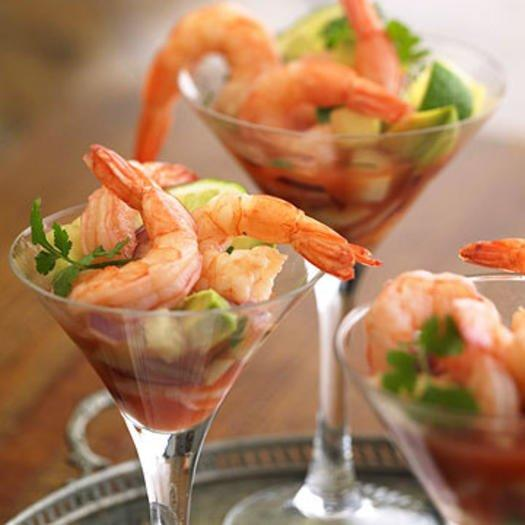 """<p>Jumbo on protein and skimpy on fat and calories, this little crustacean may just be the best party appetizer there is. With just a few shrimp on your plate, you are less likely to turn to the heavier options since <a href=""""https://www.shape.com/healthy-eating/diet-tips/right-amount-protein-eat-every-day-meal-ideas"""" target=""""_blank"""">protein fills you up</a> and keeps you satisfied for longer. Shrimp also contains the mineral zinc, a rarity in finger food, which helps promote a strong immune system. As for the cocktail sauce that often accompanies this healthy party snack, don't overdo it. Bottled sauces often contain unhealthy amounts of sugar, so try dipping shrimp in salsa instead.</p>"""